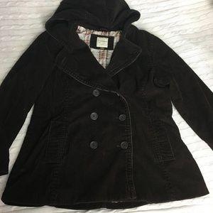 Sonoma Brown Corduroy Coat Size XL